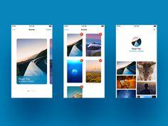 #ui, #minimal, photo sharing app