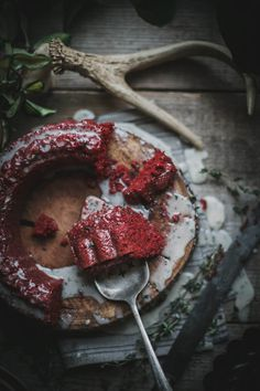 Red Velvet Cake With Beets by Photographer Beth Kirby #cake #red #darkness #photography #vintage