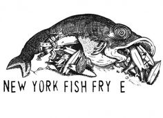 Below The Salt - The Official Salt Surf Blog #illustration #new york #fish #surf #fry