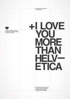 Lyla & Blu #helvetica #love #typography