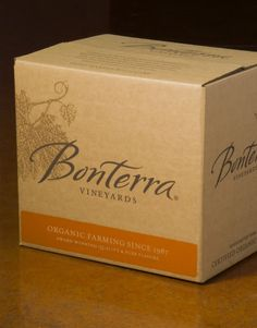 Bonterra Vineyards Wine Brown Forman Shipper California #packaging #boxed #wine