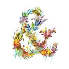http://pinterest.com/pin/35817759505967576/ #ampersand #floral #typography