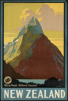 All sizes | New Zealand. Mitre Peak, Milford Sound | Flickr Photo Sharing! #travel #poster