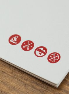 Tag Collective | Lake House Icons #placid #red #branding #design #graphic #icons #tag #collective #lake #nyc