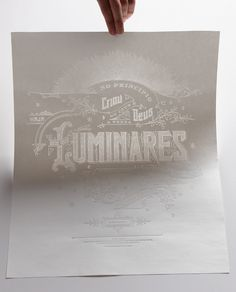 Luminares Poster #blind #hot #stamp #poster