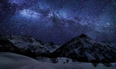 Mountain Stars Earth Sky – WallpapersBae