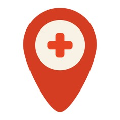 See more icon inspiration related to gps, hospital, placeholder, map pointer, map location, map point, Maps and Flags and signs on Flaticon.