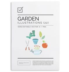 Garden Illustration & Clip Art Vector Ser $9.00 Garden illustration & clip art set for use on home & gardening related blogs, scrap-booking