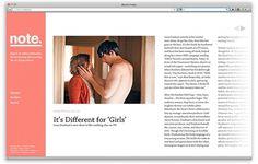 Note Ryan Stannage | Graphic Design #editorial #web #online #publication