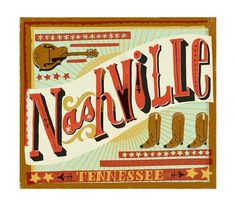 Nashville - The Everywhere Project #lettering #nashville #mary #tennessee #mcdevitt #kate