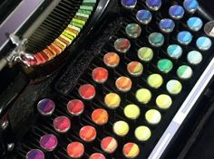 The Chromatic Typewriter | Colossal #color #typewriter