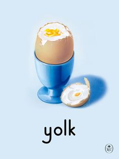 yolk Art Print by Ladybird Books Easyart.com #print #design #retro #artprints #vintage #art #bookcover
