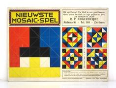 De Stijl style 1920s Mosaic board game – BDF