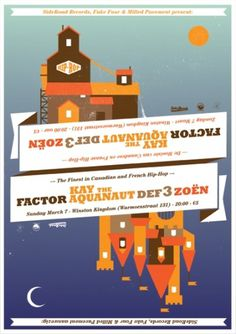 Andrew McAlpine ///// Graphic Design //////// #farmhouse #castle #poster #sideroad #factor