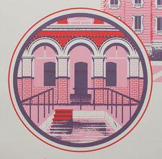Wes Anderson. Designer Alex Pearson. Grand Budapest Hotel. Illustration