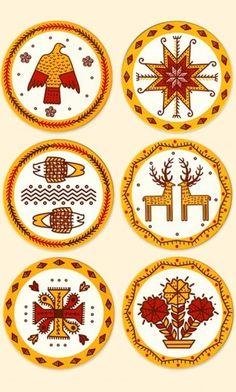 Ukrainian Ornaments Design on Coasters :: Artemov Artel Portfolio #illustration #vintage