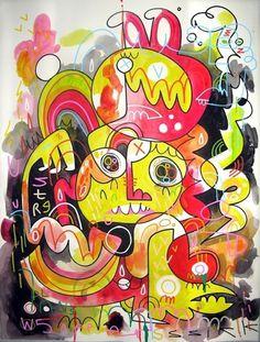 .. Wired - F C H i C H K 'L #burgerman #jon #illustration #painting #spray