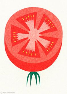 tomato, vegetable, illustration, ryotakemasa.com