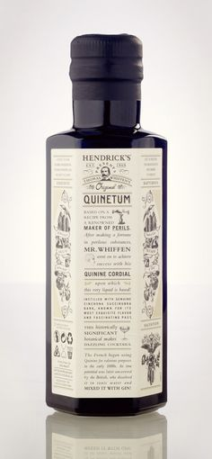 Hendrick's Quinetum #inspiration #packaging #design #graphic #craftsmanship #quality