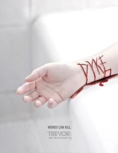 The Trevor Project: Words can kill #type #image