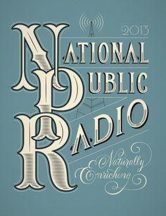 NPR Calendar | Jessica Hische #hische #jessica #custom #npr #typography