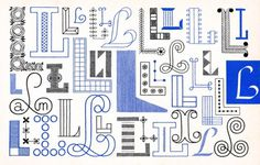 L, Embroidery Letterforms, Present and Correct