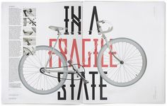 we love typography. a place to bookmark and savour quality type-related images and quotes #bike #magazine #typography