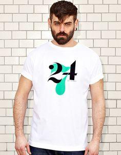 NATRI - 24/7- white t-shirt - men: twenty-four-seven - eight to eight #modern #print #design #shirt #minimal #fashion #type #typography