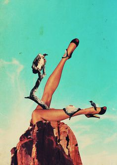 ambush_by_promopocket d31lt8l.jpg (596×839) #vintage #collage #legs #vultures