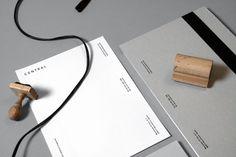 Central Magazine #branding #identity #minimal #black and white #grey #stamp