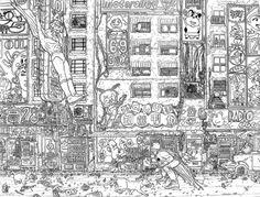 Gotham Street, in DanDos Santos's My Collection Comic Art Gallery Room