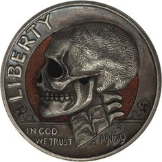 Remarkable Hobo Nickels Carved from Clad Coins by Paolo CurcioDecember 27 #coin #skull #carved