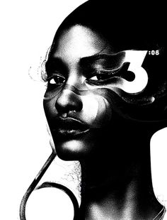 Illustration by Kim Dulaney for Time #white #black #illustration #portrait #and