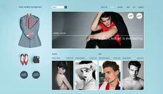 Berta (Models Management) on Branding Served #design #web