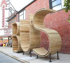 BUS stop in Baltimore - three huge letters - www.homeworlddesign. com (10) #bus #urban #design #station