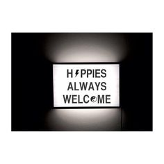 Hippies Always Welcome - Cinematic Light box by Page Thirty Three