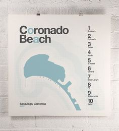 ORANGEandPARKcom / coronado surf print #posters