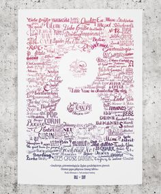 Lettering Poster by Mark Fromberg and Claudia Silbermann