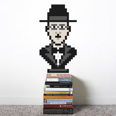 Puxxle · Fernando #puxxle #pessoa #decor #puzzle #pixel #bust #wall #fernando #art #decoration #8bit