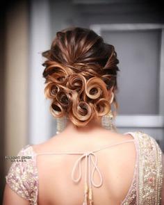 Cascading Curls On A Bun