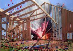 urban taster | stuff we like #painting #exploding #art #buildings