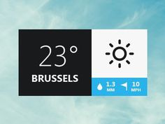 Dribbble - Weather Pop-up by Monsters'Lab #app #weather
