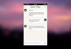 iPhone 6 Chat UI Design