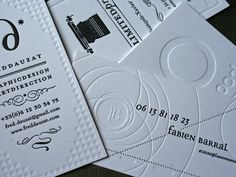 Letterpress Business Cards by Fabien Barral #card #letterpress #business