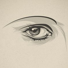 Look at me! on Behance #eye #illustration #close