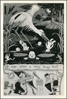 19_FrankPape_FoE_VeryBusyBird_100.jpg 1,000×1,469 pixels #illustration #retro #drawing