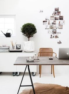 Home office via The Classy Issue. #office #workspace #desk
