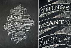 Dana Tanamachi | Custom Chalk Lettering - Home #type #dana #tanamachi #typography