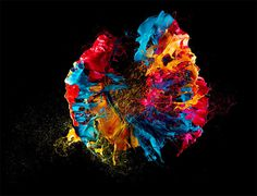 Liquid Jewels: High Speed Photos of Paint on Popped Balloons by Fabian Oefner