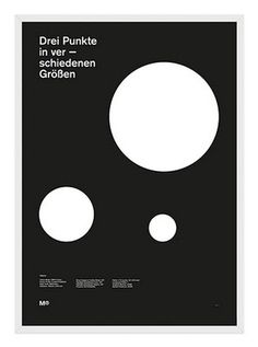Balla Dora Typo-Grafika: A series of 1950/60's inspired posters #swiss #white #circles #black #poster #and #helvetica #minimalist
